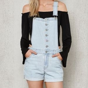 PacSun Light Wash Overall, Size M